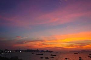 coucher de soleil coloré photo