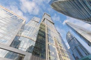 Centre d'affaires international de la ville de Moscou le matin photo