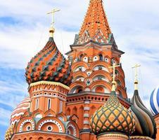 cathédrale de vasily le bienheureux sur la place rouge photo