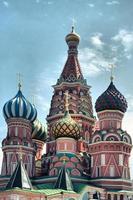 La cathédrale Saint-Basile à la place rouge, le Kremlin de Moscou, Russie