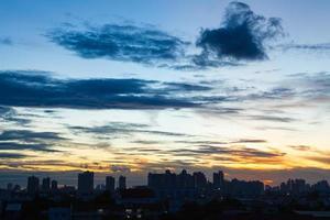 coucher et lever de soleil photo