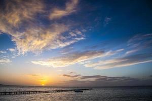 coucher de soleil en sicile photo