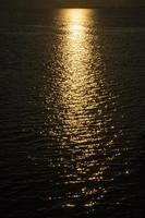 le célèbre coucher de soleil. photo