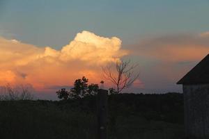 coucher de soleil dans le wisconsin photo