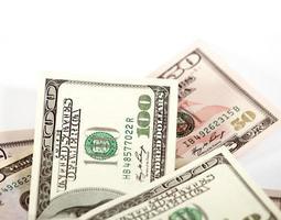 fond abstrait dollars