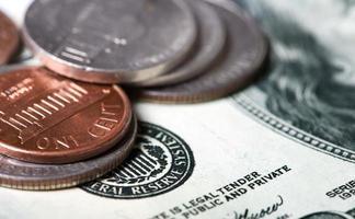 gros plan de l'argent photo