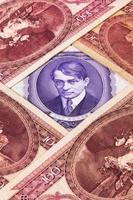différents billets de banque hongrois photo