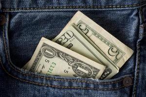 l'argent dans la poche photo