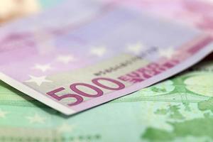 argent, billet de 500 euros photo