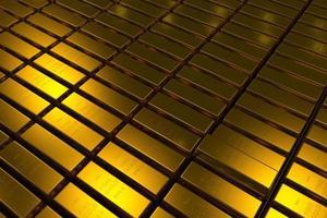 Les barres d'or bloquent le concept en trois dimensions photo