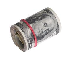dollars sur fond blanc photo