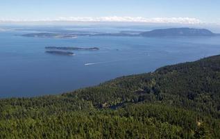 îles san juan et lacs jumeaux dans l'état de washington photo