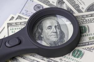 pile de dollars aux États-Unis d'Amérique photo