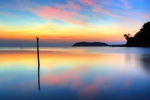 coucher de soleil sur koh samui photo