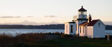 parc de découverte west point phare puget sound seattle nautique photo