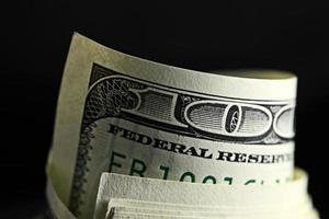 rouleau d'argent avec nous dollars photo