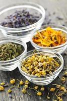 herbes médicinales séchées