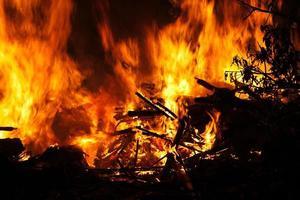feu, brûlant