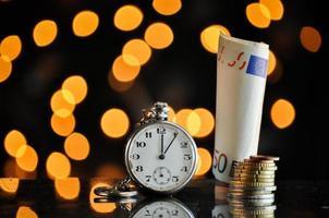 temps et argent, concept d'entreprise photo