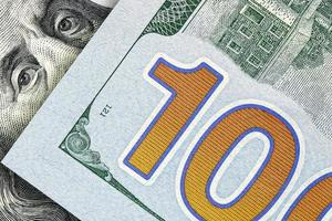 argent américain, billets de cent dollars photo