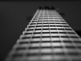 gros plan de guitare. photo