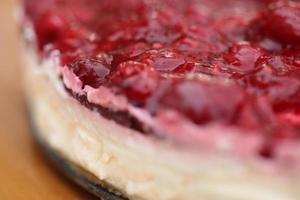 gros plan de gâteau au fromage photo