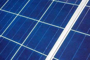 panneau solaire de près photo