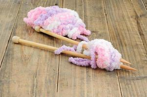 gros plan laine tricotée