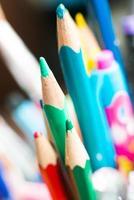gros plan de crayons de couleur photo