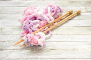 gros plan laine tricotée photo
