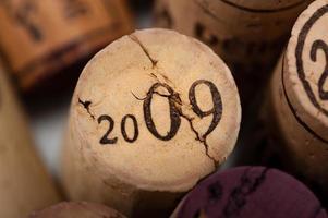 gros plan de bouchon de vin photo