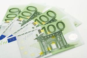 billets en euros, gros plan photo