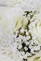 bouquet de mariée, gros plan photo