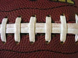 gros plan de lacets de football photo
