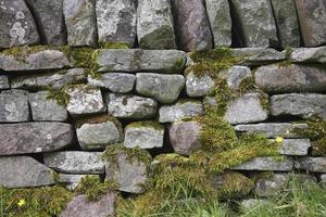 mur de pierre, gros plan photo
