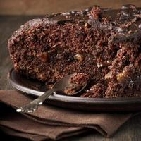 gros plan de gâteau au chocolat photo