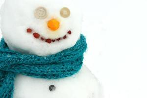 gros plan portrait de bonhomme de neige photo