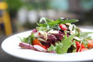 salade en gros plan