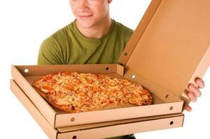 garçon de pizza photo