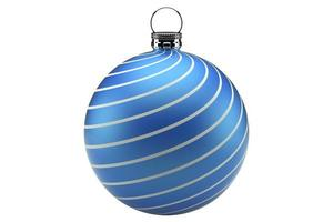 boule de noël bleu photo