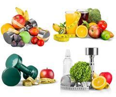 ajustement, fitness, nourriture