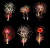 ensemble de six feux d'artifice photo