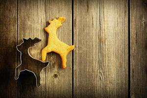 biscuit de cerf de pain d'épice fait maison de Noël photo