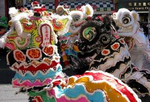 danseurs de lion photo