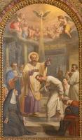rome - le baptême de st. augustine ad hl. ambrose photo