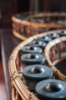 Gong, instrument de musique traditionnel thaïlandais photo