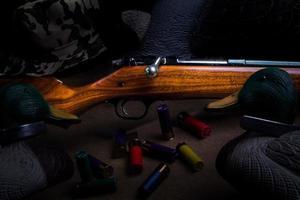 fusil de chasse et leurres photo