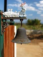 sonnette de porte en métal photo