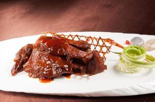 cuisine chinoise-canard des dieux en bambou photo