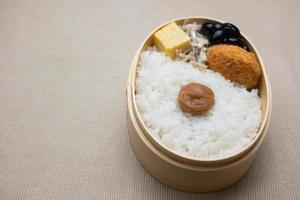 boîte à lunch japonaise hinomaru bento (日 の 丸 弁 当) photo